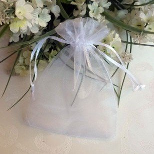 7' Organza Bag - 100 PCS 5''*7'' Sheer Organza Favor Bags White