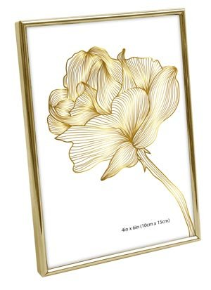 Isaac Jacobs Metallic Picture Frame (4x6, (4x6 Gold Frames)