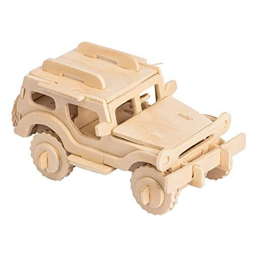 on sale 3D Wooden Model Toy Kit World Puzzle Build Car Kit