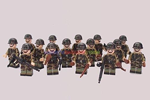 [Minifigures 15 x Paratrooper Army Soldier] (Female Adventurer Costume Ideas)
