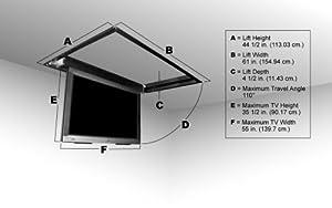 Flp 310 motorized flip down ceiling tv lift for Vivo electric motorized flip down pitched roof ceiling tv mount