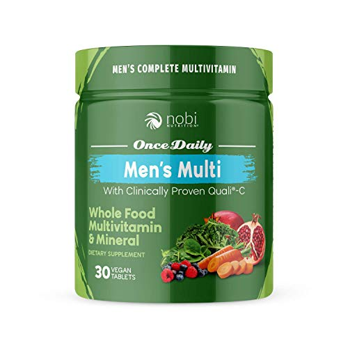 One Daily Multivitamin for Men – with Whole Food Vitamins – Immune Support with Clinically Proven Vitamin C, Vitamin D, Zinc – Premium Vegan Mens Vitamins – Natural Minerals & Extracts