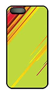 Abstract Colorful Lines Cover Case Skin for iPhone 5 5S Hard PC Black