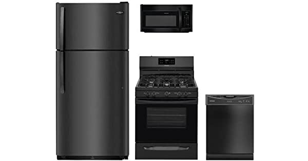 Amazon.com: Frigidaire 4-Piece Negro Cocina fftr1821tb del ...