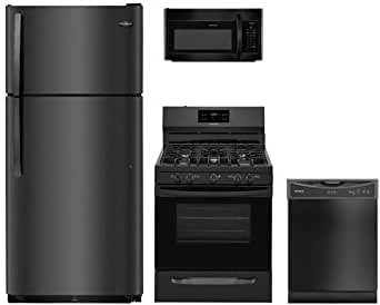 Amazon.com: Frigidaire 4-Piece Black Kitchen Package