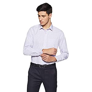 Van Heusen Men's Checkered Slim Fit Formal Shirt