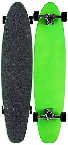 """MOOSE NEON GREEN Longboard Complete 9"""" x 40"""" Kicktail"""