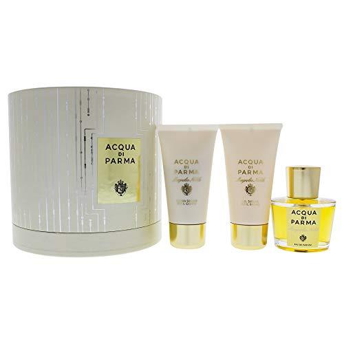 Acqua Di Parma Magnolia Nobile 3 Piece Gift Set Eau De Parfum Spray, Shower Gel & Body Cream for Women (Acqua Di Parma Magnolia Nobile Gift Set)