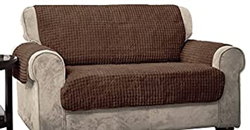 Innovative Textile Solutions Puff Sofa Protector, Chocolate