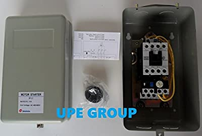 Magnetic Motor Starter for Electric Motor Control 5 HP 11 amp 3-phase 460VAC with Adjustable Overload Relay 7 TO 11 AMPS