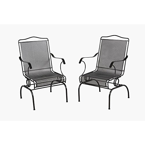 Metal Wrought Cart Iron - Arlington House Jackson Action Patio Chair (2-Pack)