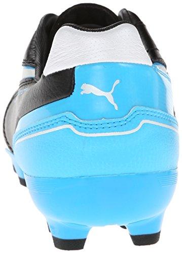 PUMA Herren Momenta MG Fußballschuh Schwarz / Weiß / Fluoreszierendes Blau