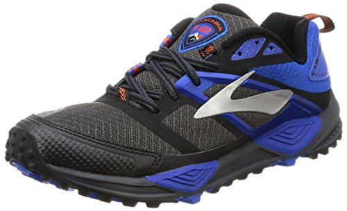 Brooks Cascadia 12, Scarpe da Corsa Uomo Grigio (Anthracite/Electric Blue/Black)
