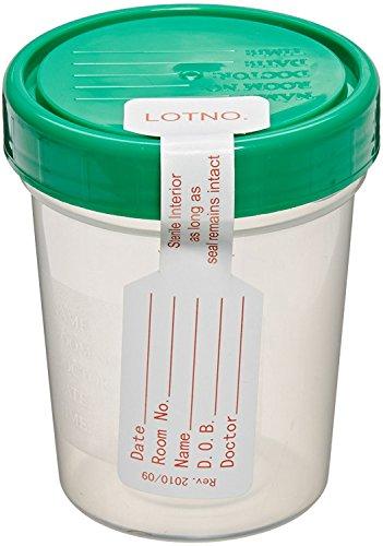 Sterile Specimen Cups, Set of 12, Screw Cap,
