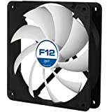 Arctic F12 PWM PST Value pack Standard Low Noise PWM Controlled Case Fan with PST Feature Cooling, 5 Pack