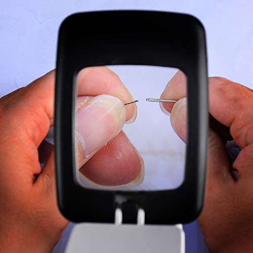 Led Pocket Magnifying Glass With Light For Reading Book