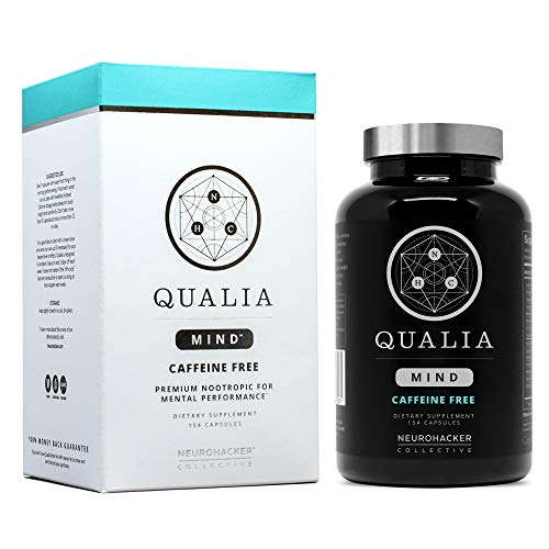 Qualia Mind Nootropic | Premium Brain Booster Supplement for Memory, Focus, Clarity and Concentration Support with Bacopa monnieri, Ginkgo biloba, DHA, Alpha GPC, B12 & More (154 Ct Caffeine-Free)