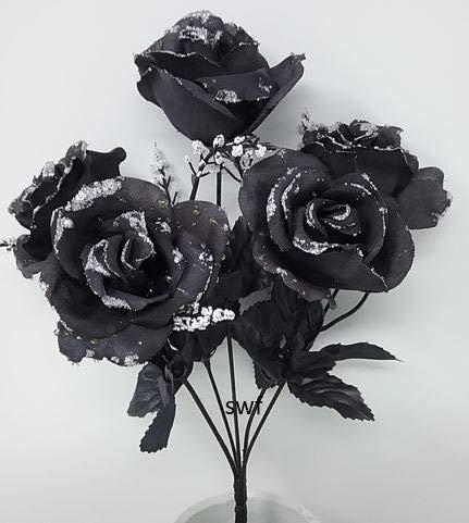 13-Mini-Rose-Bud-Bush-Artificial-Silk-Wedding-Bouquet-Craft-Flowers-Home-Decor-7-Stems-21-Roses