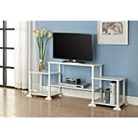Mainstays 40 inches Contemporary Plasma/LCD TV Stand Entertainment Center Wood Composite and Plastic - White