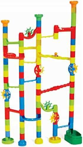 Edushape Marbulous Marble Run, 100 Piece Set, Multicolor