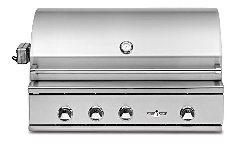 Delta Heat Dhbq38rs Cn 38  Built In Natural Gas Grill With Three U Burners Infrared Rotisserie 9V Electronic Ignition Interior Halogen Lights Infrared Sear Zone And Welded 304 Stainless