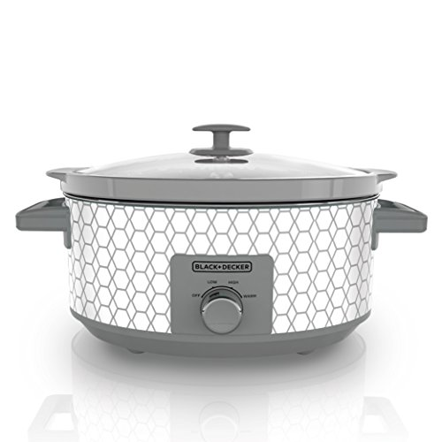 - Black & Decker SC1007D Slow Cooker, 7 Quart, Geometric Cream