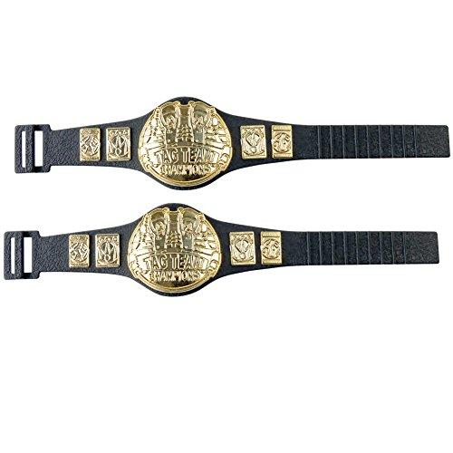 Tag Team Championship Belts for WWE Wrestling Action Figures (Set of 2) (Wwe Action Figures Belts)