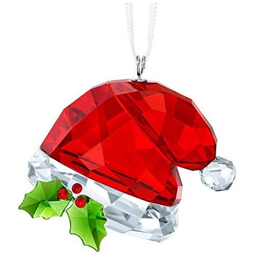 - Swarovski Santa's Hat, Multi Colour Crystal Ornament 3.5x 4x 2.4cm