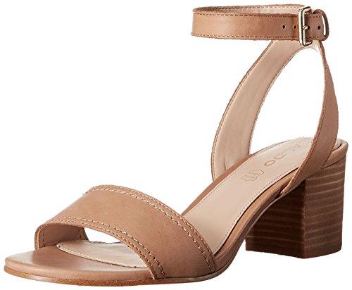 ALDO Women's Lolla Heeled Sandal, Cognac, 8.5 B US