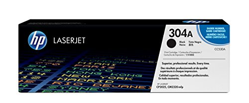 HP 304A (CC530A) Black Original Toner Cartridge for HP Color LaserJet CP2025 CM2320 (Printer Color Laserjet Cp2025)
