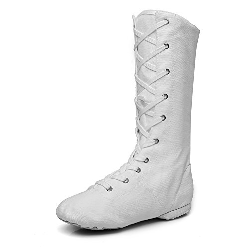 Women's Canvas Cosplay Dance Boots White,9 M ()