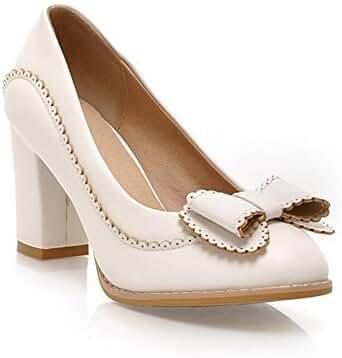 Balamasa Womens Pull On High Heels Solid Pumps Shoes