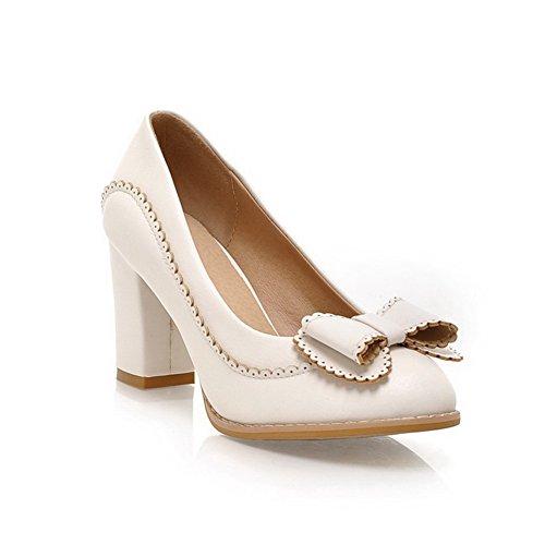 Balamasa Womens Pull On High Heels Solid White Pumps Shoes – 7.5 B(M) US
