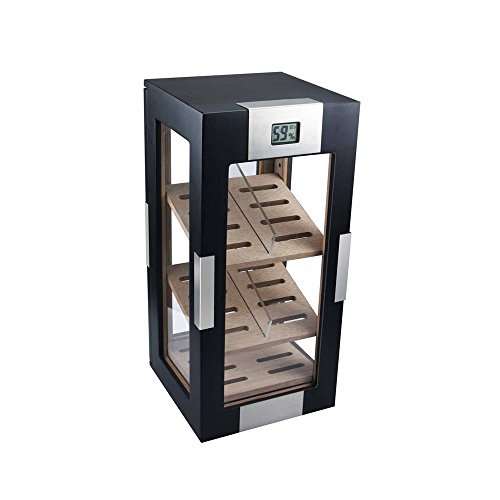 Visol DogWood Black Matte Vertical Cigar Humidor by Visol