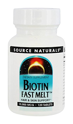 Source Naturals Biotin 10,000mcg For Hair and Skin Support - 120 Tablets (Mcg Source Naturals Tabs 120)