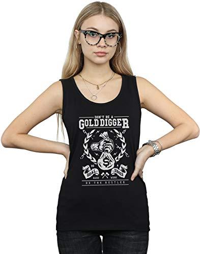 Digger Mangas Sin Gold Mujer Negro Camiseta Drewbacca z1Evw