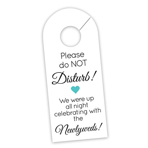 Wedding Door Hanger Sign, Hotel Welcome Bag Signs, Do Not Disturb Sign (DH10-AQ-WT)