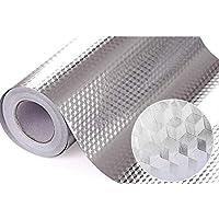XQMSTORE Kitchen Backsplash Sticker Wallpaper Aluminum Foil Wall Paper Waterproof Removable High Temperature Resistant…