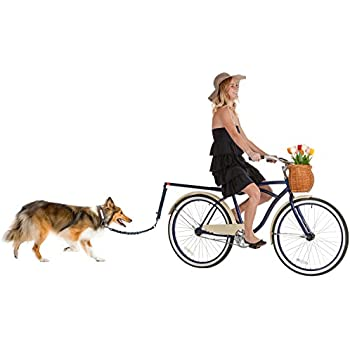 Hands Free Bicycle Dog Leash for Bike Riding Safe with Pets - Soft & Easy Pull Tug Free Control from Small to Large Dogs
