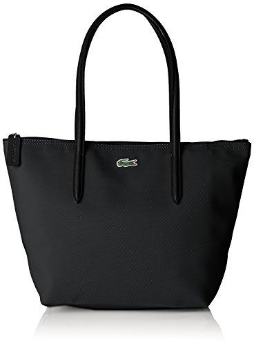 Lacoste NF2037PO, Bolso Bandolera para Mujer, Black (Black), 24.5 x 14.5 x 23.5 cM