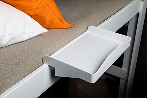 Bunk Buddy Bedside Shelf - White