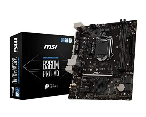 MSI B360M PRO-VD Intel Chipset Socket H4 LGA-1151 Desktop Motherboard (Pentium Motherboard Video)