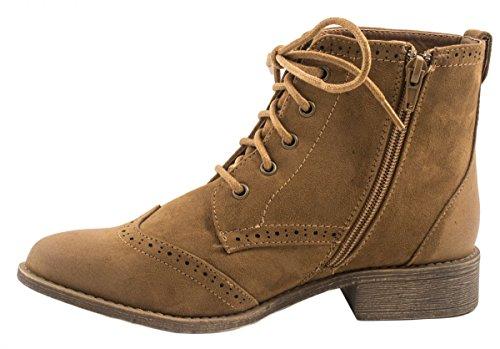 Elara Cowboy Boots | Damen Western Stiefelette | Blockabsatz Schnürer | chunkyrayan Camel