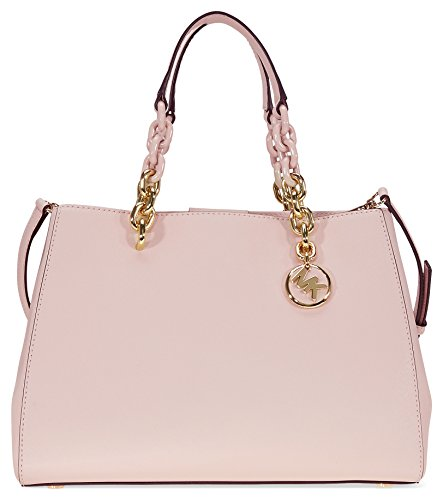 Michael Kors Cynthia Saffiano Leather Satchel - Soft Pink (Large Soft Leather Satchel)