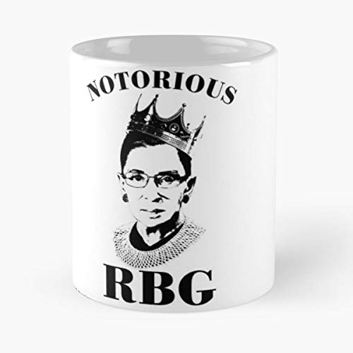 Rbg Sweater Ruth Bader Ginsburg - White -coffee Mug- Unique Birthday Gift-the Best Gift For Holidays- 11 Oz.