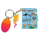 SEA LIFE MEMO BOOK KEY RING WITH DANGLER, Case of 288
