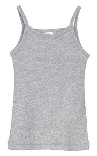 City Threads Little Girls' Cotton Camisole Cami Tank Top T-Shirt Tee Tshirt Spaghetti Straps Summer Play School Sports Sensitive Skin SPD Sensory Sensitive Clothing - Heather Grey - 12-18m -