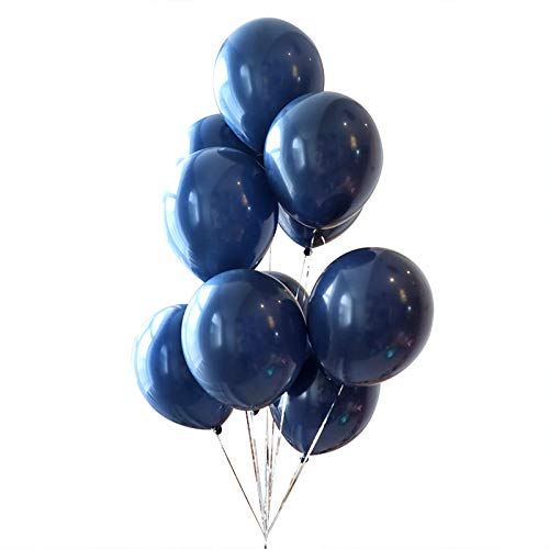 Dark Blue Balloons 12inch 50 Pcs Latex Party Balloons Helium Balloons Party Decoration Balloons Compatible Birthday Baby Shower Party - Dark Blue by Brontothere -