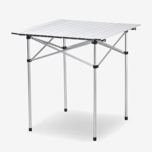 (Joyhome Square Folding Tables Aluminum Picnic Table 28