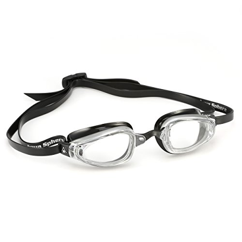 (MP Michael Phelps K180 Goggle Clear Lens Silver/Black)